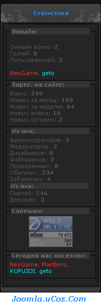 Смотреть изображение файла Статистика Сайта