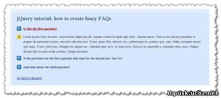 Смотреть изображение файла Оригинальный модуль Вопрос - Ответ на jQuery